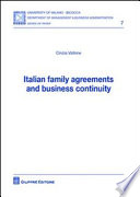 Italian family agreements and business continuity