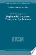 IUTAM IASS Symposium on Deployable Structures  Theory and Applications
