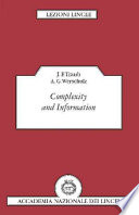Complexity And Information