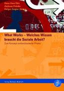 What Works   Welches Wissen braucht die Soziale Arbeit