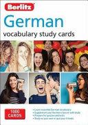German Vocabulary Study Cards
