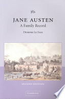Jane Austen  A Family Record
