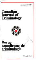 Canadian Journal of Criminology