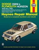 Haynes Dodge Omni and Plymouth Horizon  1978 1990