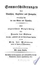Sommerschilderungen der Deutschen, Engländer und Franzosen, vorzüglich die von Gleim und Thomson