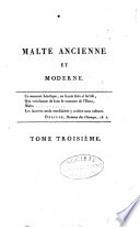 Malte ancienne et moderne