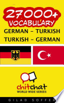 27000  German   Turkish Turkish   German Vocabulary
