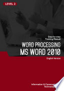 MS WORD 2010  Level 2