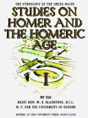 download ebook studies on homer and the homeric age, volume 1 (of 3) pdf epub