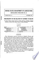 Bibliography On The Relation Of Clothing To Health : and articles relating to the...