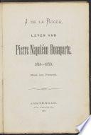 Leven Van Pierre Napol On Bonaparte 1815 1870