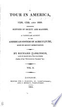 A Tour in America in 1798, 1799, and 1800