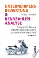 Unternehmensbewertung   Kennzahlenanalyse