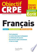 Objectif CRPE Fran  ais   2018