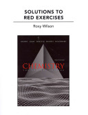 Solutions to Red Exercises for Chemistry