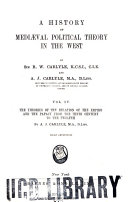 A history of mediaeval political theory in the West