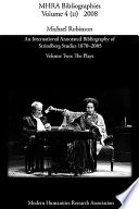 An International Annotated Bibliography of Strindberg Studies 1870-2005: The plays