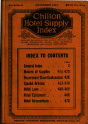 Chilton Hotel Supply Index