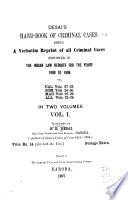 Hand book of Criminal Cases