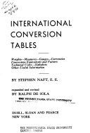 International Conversion Tables