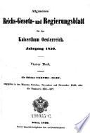 Allgemeines Reichs Gesetz Und Regierungsblatt F R Das Kaiserthum Oesterreich