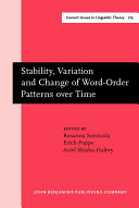 Stability, Variation, and Change of Word-order Patterns Over Time
