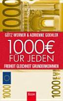 Tausend Euro für jeden