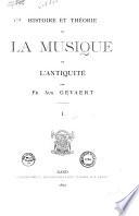 Histoire et th  orie de la musique de l antiquit