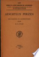 Aeschylus   Persae  griech     Perzen