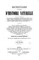 Dictionnaire universel d'histoire naturelle - tome 8 (M-OID)