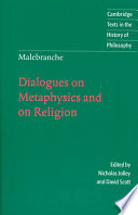 illustration Malebranche: Dialogues on Metaphysics and on Religion
