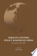 Tobacco Control Policy Analysis in China