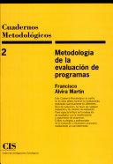 Metodología de la evaluación de programas