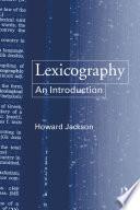 Lexicography