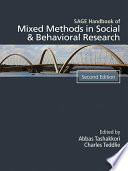 Sage Handbook Of Mixed Methods In Social Behavioral Research