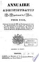Annuaire administratif  statistique et commercial du D  partement de l Aube