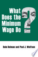 What Does the Minimum Wage Do
