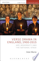 Ebook Verse Drama in England, 1900-2015 Epub Irene Morra Apps Read Mobile