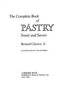 Book COMPLETE BOOK OF PASTRY