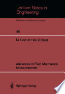 Advances in Fluid Mechanics Measurements
