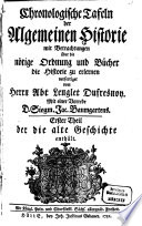 Chronologische Tafeln der Algemeinen Historie