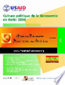 Culture politique de la démocratie en Haïti, 2006