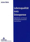 Lebensqualität trotz Osteoporose