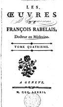Oeuvres de Rabelais, Tome quatrième