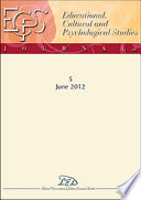Journal of Educational  Cultural and Psychological Studies  ECPS Journal  5   June 2012