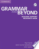 Grammar and Beyond Level 4 Teacher Support Resource Book with CD ROM
