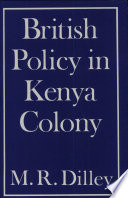 British Policy in Kenya Colony