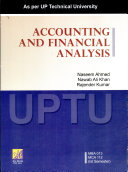 Accounting And Financial Analysis  as Per The Uptu For Mba Ist Year
