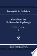 Enzyklop  die der Psychologie   Themenbereich D  Praxisgebiete   Medizinische Psychologie   Grundlagen der Medizinischen Psychologie