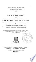 Ann Radcliffe in relation to her time